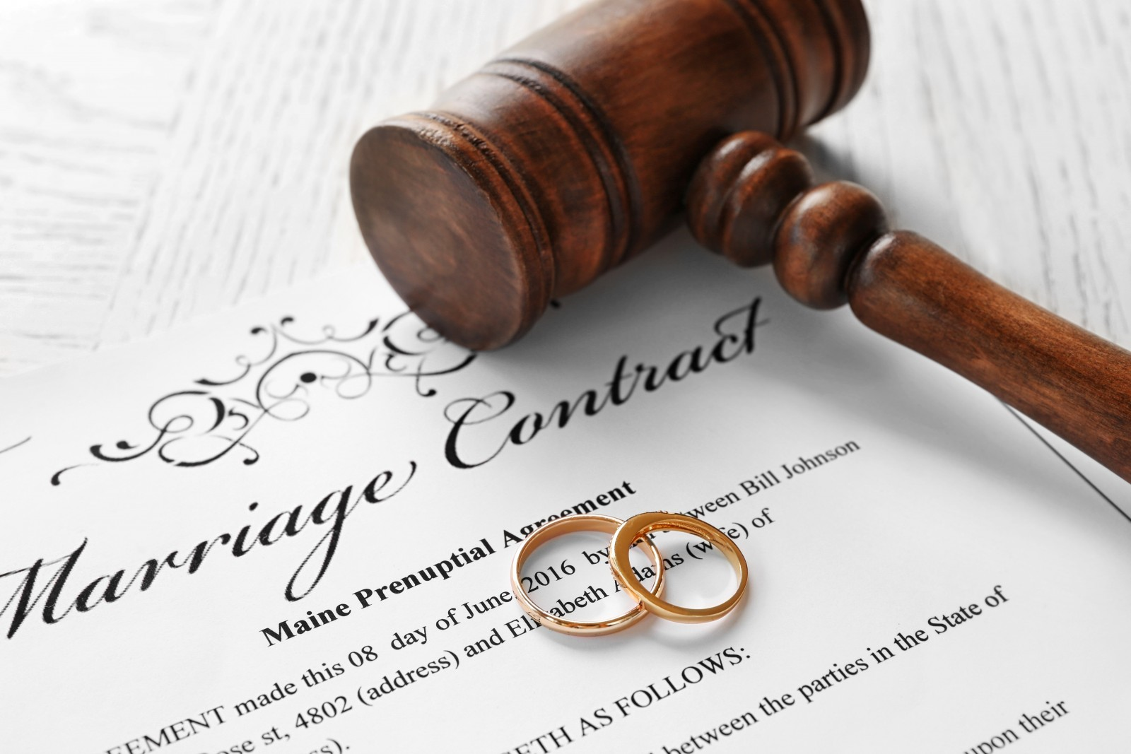 Image of a Marriage Contract document in court - Calgary, Alberta Legal Help